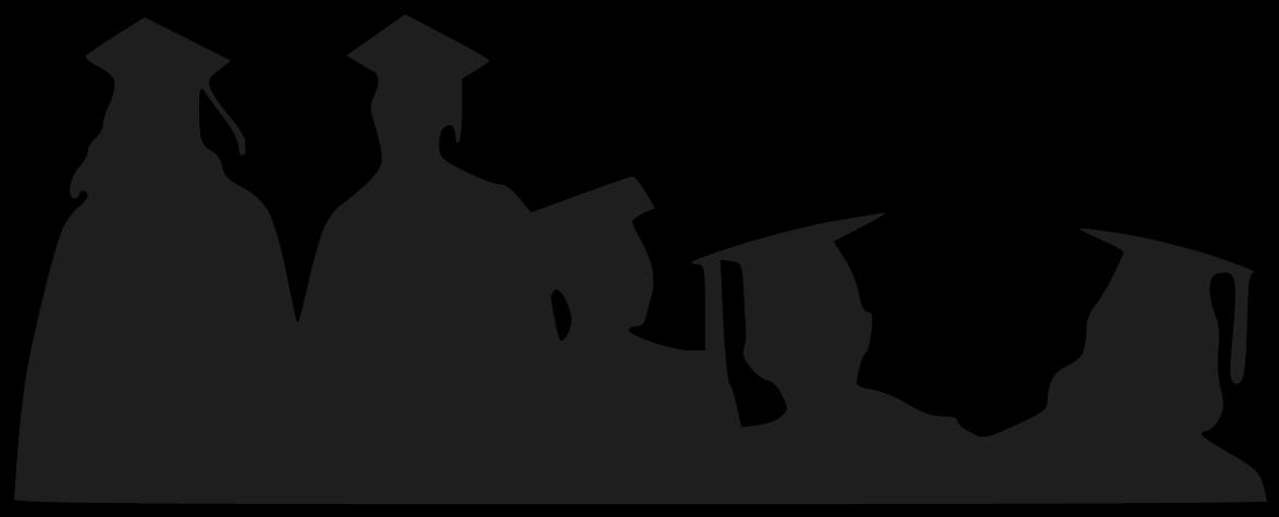 graduate silhouette clipart - 1175×475
